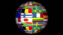 3D animation of international globe  Stock Footage