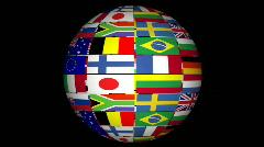 3D animation of international globe  Stock Footage
