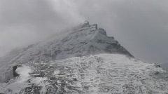 Ice Field Parkway Sharp Peak cloud TL Stock Footage