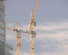 Crane at work (3 shots) Stock Footage