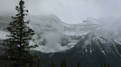 IceField Parkway Ridge Pan to lake Stock Footage