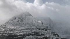 Icefield Parkway snowclad peak TL Stock Footage