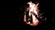 Camp fire ring dark night M HD Stock Footage