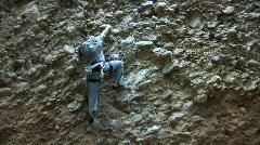 Rock climb reach M HD Stock Footage