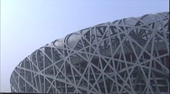 Stock Video Footage of  Beijing Olympic Stadium