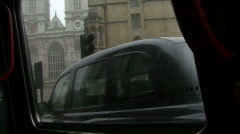 Misty London from cab Stock Footage