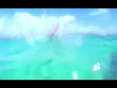 Stock Video Footage of Hot Kitersurfing Girl flyby water POV