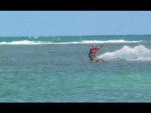 Stock Video Footage of Hot Blonde Kitesurfing Chick trick