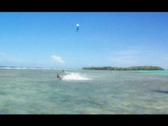 Stock Video Footage of Kitesurfer Chick HUGE air