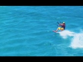 Stock Video Footage of Kitesurfer HUGE air