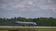 Canadian Air Force Plane Taxiing Stock Footage