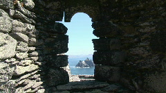 Hidden View of Skellig Islands Stock Footage