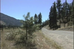 Road in western US Stock Footage