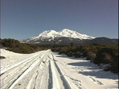 Stock Video Footage of  Winter road  Mt Shasta CA