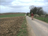 Stock Video Footage of Man on country road England