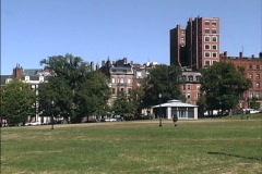 Boston Common MA Stock Footage