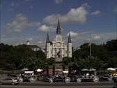 St. Louis Cathedral New Orleans  LA Stock Footage