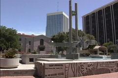 Tucson fountain - stock footage