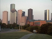 Houston with bicycles Stock Footage