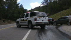 Sheriff's SUV walk up and close up Stock Footage