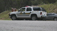 Sheriff's SUV roadblock - stock footage