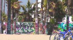 Jm674-Graffiti Beach Stock Footage