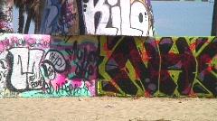 Jm679-Venice Beach Graffiti Stock Footage