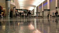 Houston Airport inside gates M HD Stock Footage