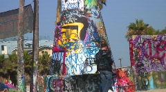 Jm686-Venice Beach Graffiti6 Stock Footage
