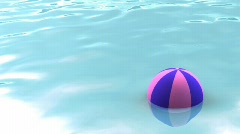 Seamless water surface with beach ball - stock footage