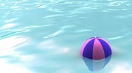 Stock Video Footage of Seamless water surface with beach ball