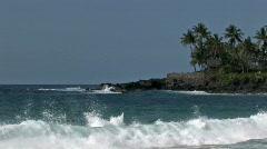 Waimea Bay beach surf Hawaii M HD Stock Footage