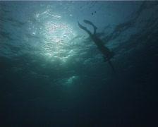2 minutes apnea (part 1) Stock Footage