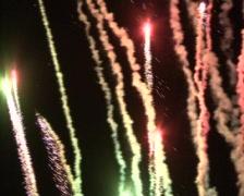comet fireworks - stock footage