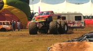 Stock Video Footage of Monster Truck Spinning HD