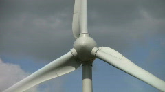 Wind turbine electricity generation. Northamptonshire England. Stock Footage