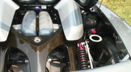 Stock Video Footage of carrera porsche engine