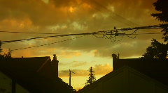 Dreamy suburban sunset. Time lapse. - stock footage