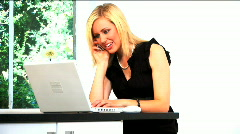Working businesswoman at home Stock Footage