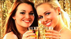Party girls Stock Footage