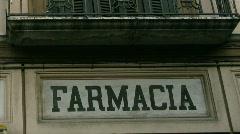 Italia farmacia Stock Footage