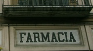 Stock Video Footage of italia farmacia