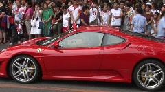Red Ferrari Pekingissä Arkistovideo