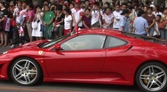 Stock Video Footage of Red Ferrari in Beijing
