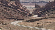 Spotted Wolf Canyon I-70 Utah close M HD Stock Footage
