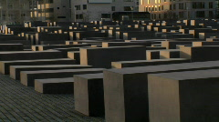Berlin holocaust memorial Stock Footage