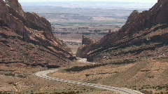 Spotted Wolf Canyon I-70 Utah M HD Stock Footage