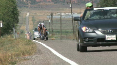 Tour of Utah bike race 2nd group M HD Stock Footage
