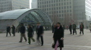 Canary Warf Time Lapse 3 Stock Footage