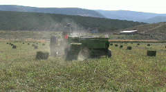 Hay Baler away Utah M HD Stock Footage